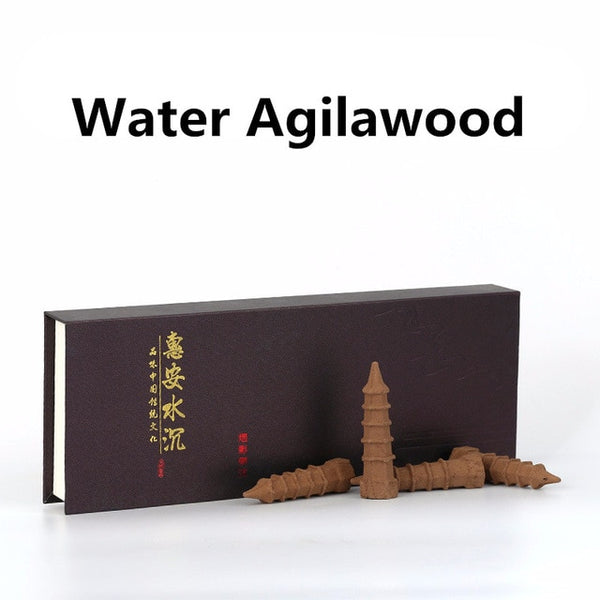 water agilawood downpour smoke incense cones