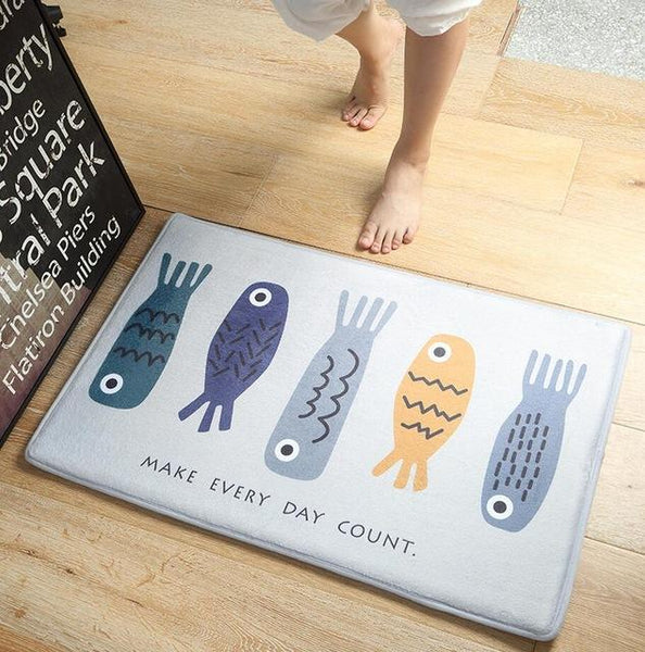 Up to 65% OFF - Mat - Positive Fish Anti-Slip Plush Floor Mat | Wiki Wiseman