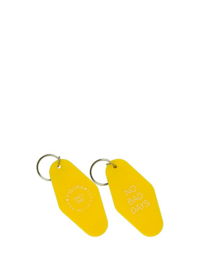 "Motel Key Ring ""No Bad Days""- Yellow from Fisura"
