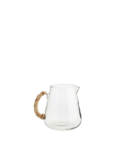 Glass Jug with Bamboo Handle - Small