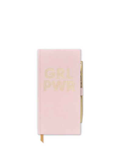 Slim Bound Notepad - Girl Power Dusty Pink from Designworks ink.