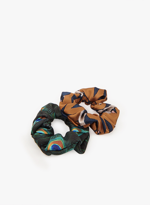 Peacock Scrunchie from WOUF