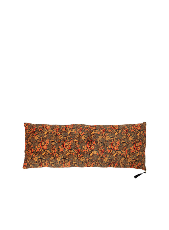 Orange Paisley Print Long Cushion from Bloomingville