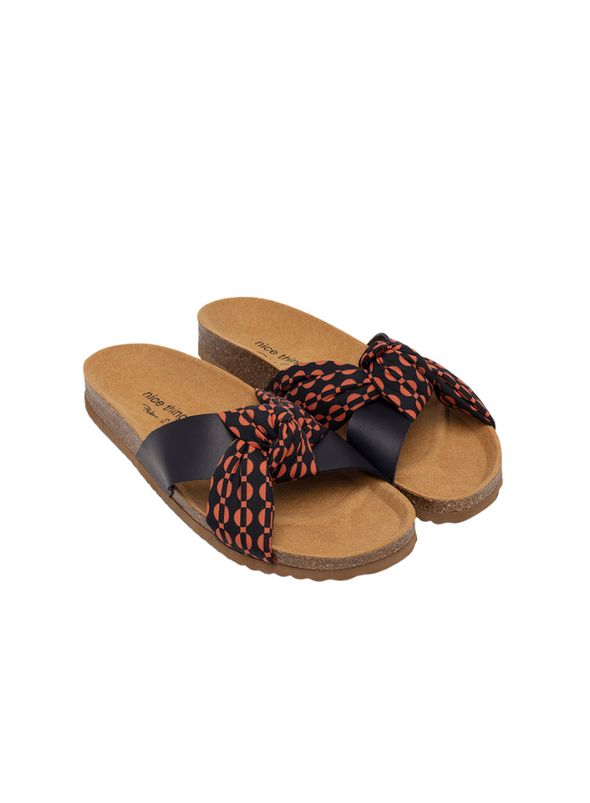 Bio Print Sandal in Indigo Blue from Nice Things