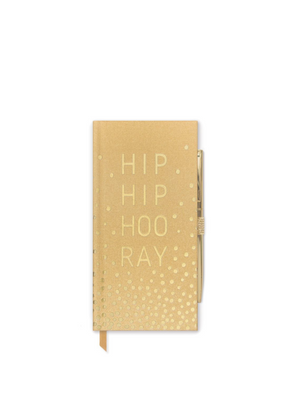 Hip Hip Hooray Slim Bound Notebook from Designworks ink.