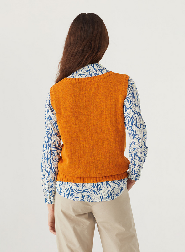 Jane Long Dress with Pomegranate Print from Indi & Cold