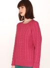 Cables Warm Sweater in Pink from Pepaloves
