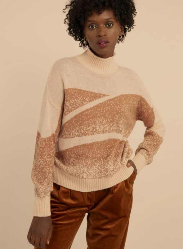 Nachida Rose Pull on Sweater from Frnch