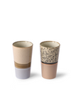 Ceramic 70's Latte Mugs in Reef from HK Living