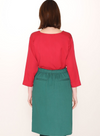Cotton Midi Skirt in Green from Pepaloves