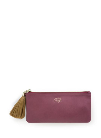 Burgundy Tassel Pencil Pouch from Designworks ink.
