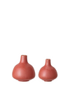Set of 2 Red Stoneware Vases from Bloomingville