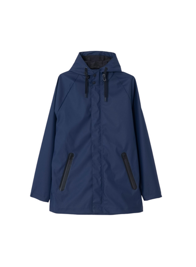 Kise Raincoat in Indigo from Tanta
