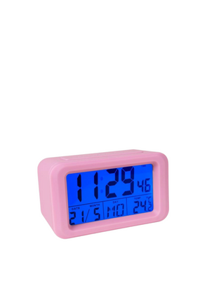 Digital Alarm Clock - Pink
