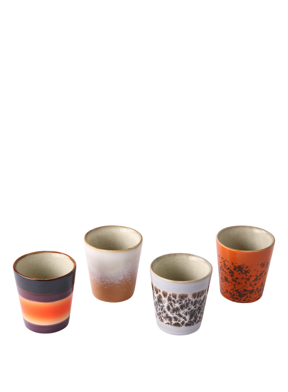 70's Ristretto Mugs in Native from HK Living