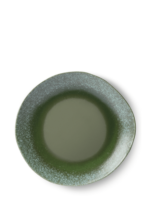 70's Style Dinner Plate - Green