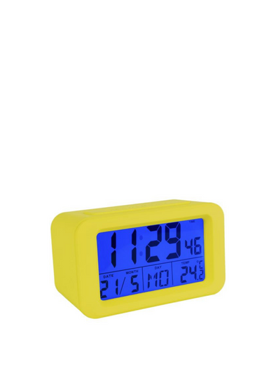 Digital Alarm Clock - Yellow