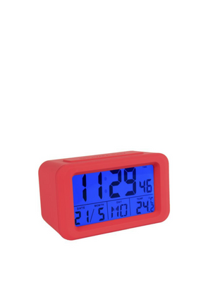 Digital Alarm Clock - Red