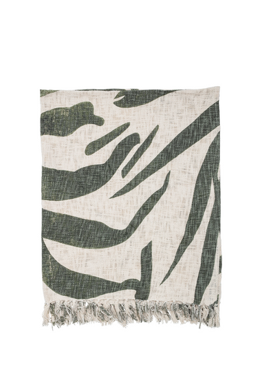 Wheatridge Green and Natural Throw from Bloomingville