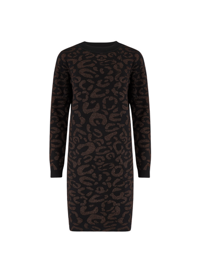 Axelle Lurex Leopard Knit Dress from Sugarhill