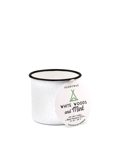 Alpine 9.5oz White Woods & Mint from Paddywax