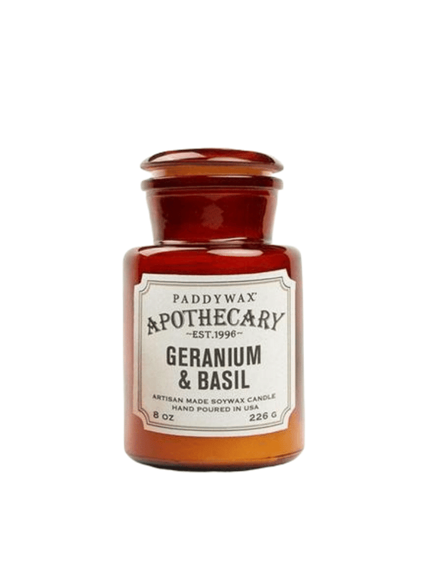Apothecary Geranium and Basil Candle from Paddywax