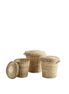 Valley Wells Small Bamboo Basket With Lid From Madam Stoltz