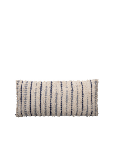 Carmel Blue Cotton Cushion from Bloomingville