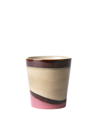 Ceramic 70's Beaker in Dunes from HK Living