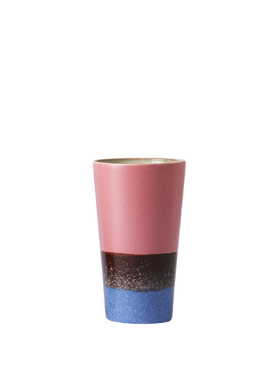 Ceramic 70's Latte Mug in Splash from HK Living