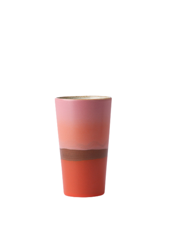 Ceramic 70's Latte Mug in Sunset from HK Living