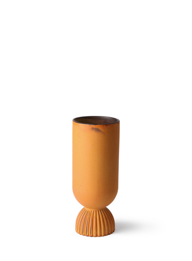 Ceramic Rustice Flower Vase with Ribbed Base from HK Living