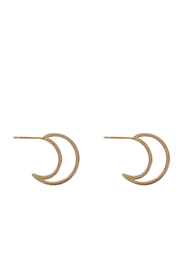 Chaiarra Moon Earrings in Gold