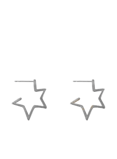 Chiarra Star Earrings in Silver