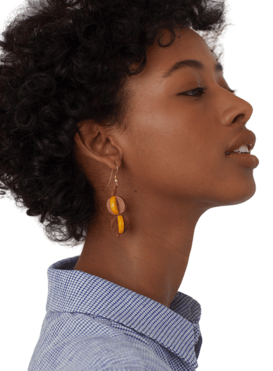 Coloured Wood Earrings from Nice Things