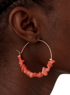 Coral Coloured Nacre Hoop from Nice Things