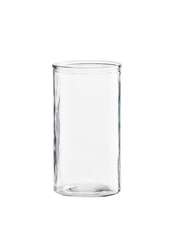 Cylinder Glass Tall Vase From Meraki