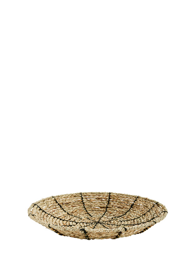 Embroidered Seagrass Bowl