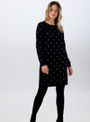 Evie Sparkle spot knit Dress from Sugarhill