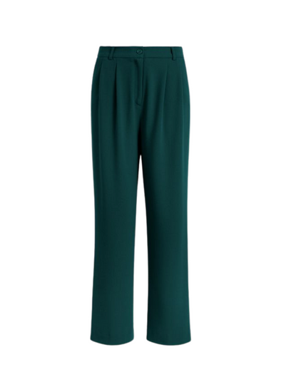 Fintan Woven Crepe Trousers in Pine Green from King Louie