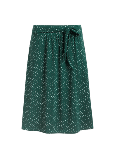 Gail, Little Dots Skirt in Pine Green from King Louie