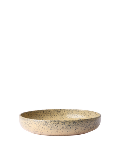 Gradient Ceramics Deep Plate in Peach from HK Living