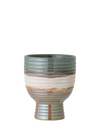 Green multicolour Stoneware Flowerpot from Bloomingville