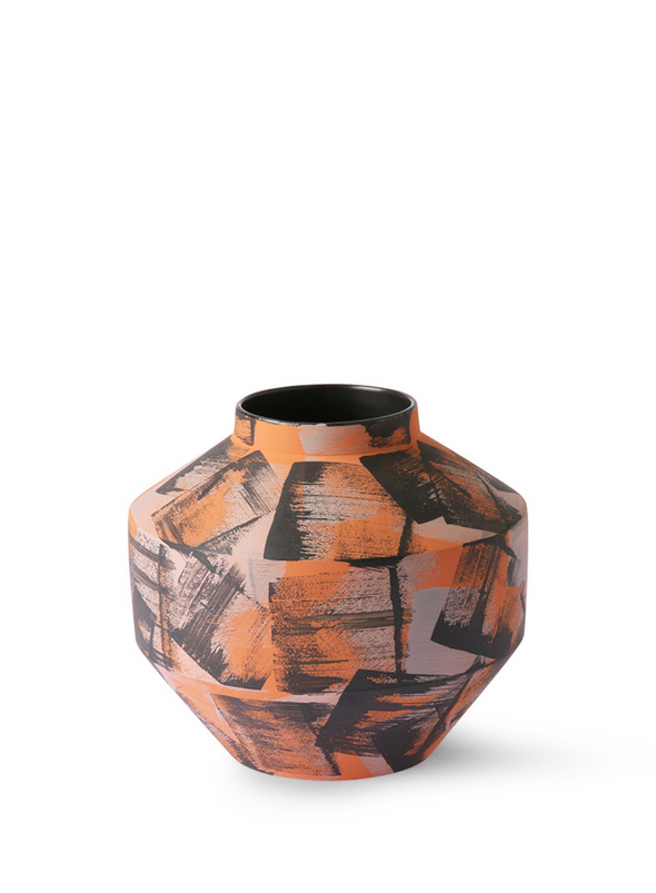 Hand Brushed Ceramic Vase from HK Living