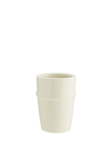 Handmade Stoneware Cup - Off White