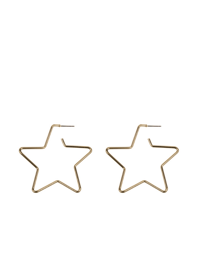 Hemione Star Earrings in Gold