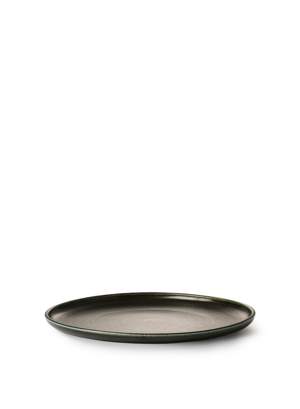 Home Chef Ceramics Rustic Black Dinner Plate from HK Living