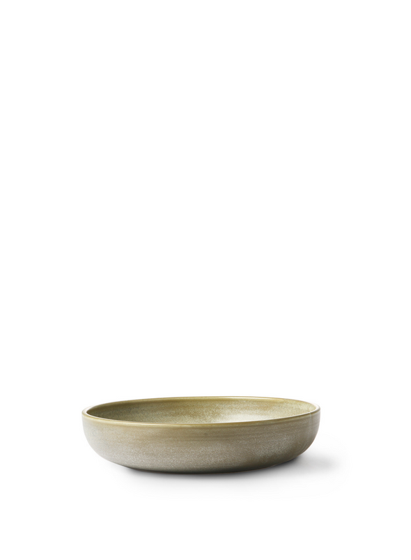 Home Chef Ceramics Rustic Green/Grey Deep Plate from HK Living