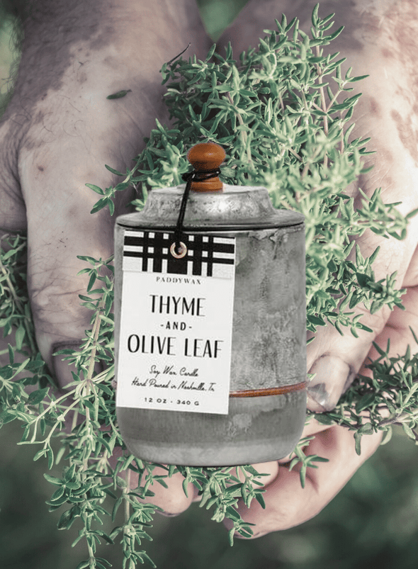 Homestead Thyme & Olive Leaf Candle from Paddywax