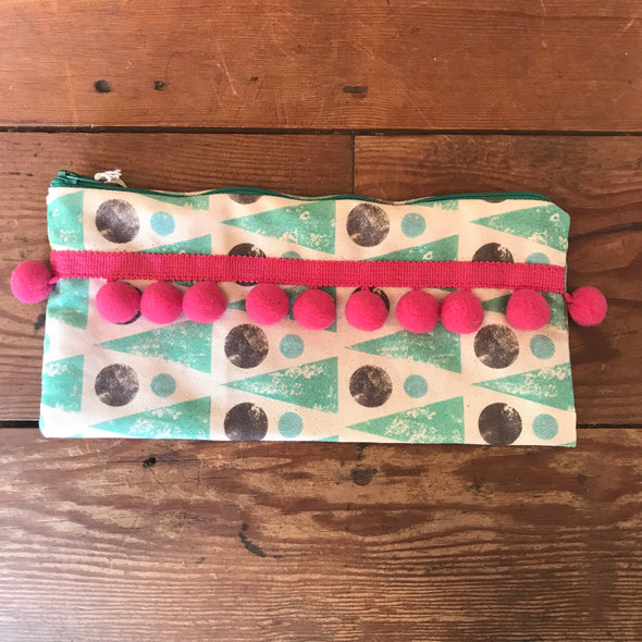 Izzi Rainey Pom Pom Pencil Case